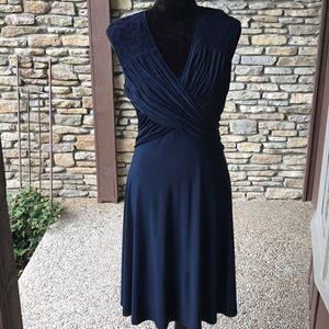 Adrianna Papell Dresses - Adrianna Papell Navy Evening Dress